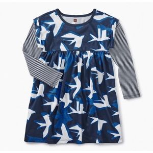 Tea Collection Sea Birds Long Sleeve Dress